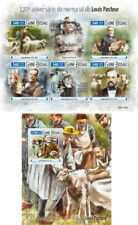 Louis Pasteur Science Dogs Medicine Dogs Guinea-Bissau MNH stamp set