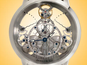 Arnold & Son Time Pyramid Manually Wound Stainless Steel Men's Watch