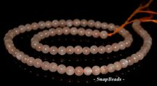 5MM-6MM ORANGE MOONSTONE GEMSTONE  ROUND 5MM-6MM LOOSE BEADS 7.5""