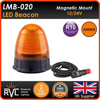 AMBER LED BEACON MAGNETIC Flashing Warning Strobe Light lightbar warning 12v 24v
