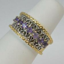 14 Carat Engagement Amethyst Yellow Gold Fine Rings
