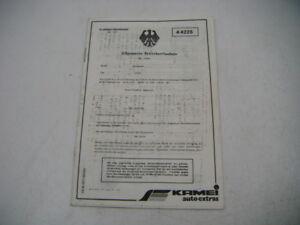 VW Scirocco I Typ 53 ABE für Kamei Frondspoiler 4 4225 KBA 35009