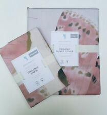 Pottery Barn Kids Organic Marigold Butterfly Twin Duvet & Standard Pillowcase