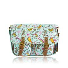 Little Bird Anna Smith NY oil cloth messenger bag Light Blue Shoulder Handbag