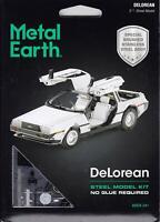 Fascinations Metal Earth DeLorean Motor DMC 3D Laser Cut Steel Model Kit MMS181