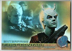 STAR TREK ENTERPRISE SEASON 1 FIRST CONTACT F2 INSERT TRADING CARD