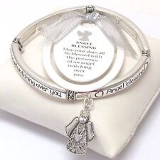 Angels Watching Over Angel Wings Bracelet Stackable Spiritual FAST SHIP USA