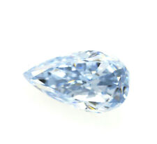 Blue Diamond - 0.24ct Natural Loose Fancy Blue Color Diamond GIA Pear Shape