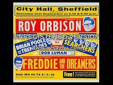 "Roy Orbison / Searchers/ Searcher Sheffield 16"" x 12"" Photo Repro Concert Poster"