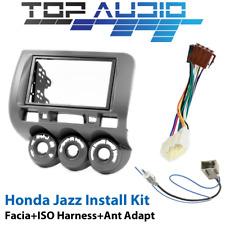 Honda Jazz GD DOUBLE DIN facia Fascia Kit + ISO Wiring Harness + Antenna Adaptor