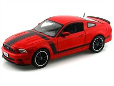 2013 Ford Mustang Boss 302 Red 1:18 Diecast Model Car Shelby Collectibles Sc454
