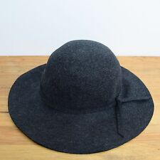 INES DE LA FRESSANGE IDLF x UNIQLO Bowler Wool Felt Hat Dark Gray New with Tags