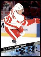 2020-21 UD Series 1 Base Young Guns #220 Gustav Lindstrom RC - Detroit Red Wings