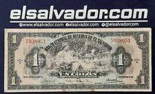 """EL SALVADOR SCARCE 1 COLON THE LAST NOTE OF LA """"DIOSA"""" SERIE C 4-SEP-41"""