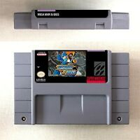 Mega Man & BASS Game Card Console US Version For Nintendo SNES 16 Bit Eng