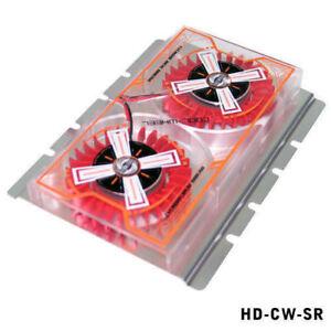 "Evercool Cool Wheel 3.5"" Hard Drive Cooler Silver Cover Red Fan HD-CW-SR"