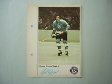 1971/72 TORONTO SUN NHL ACTION HOCKEY PHOTO SYL APPS ROOKIE SHARP!! TORONTO SUN