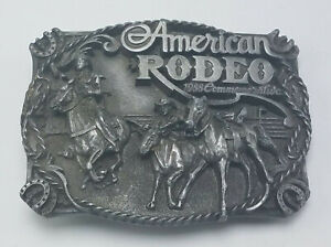 Vintage 1988 American Rodeo Commemorative Belt Buckle Siskiyou Numbered