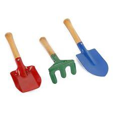 3Pcs Outdoor Garden Tools Set Rake Shovel Playset Kids Beach Sandbox Toy N3