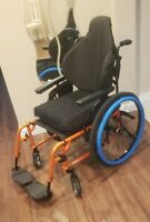TILITE AERO X ULTRALIGHT WHEELCHAIR w/footrests, Shadow wheels, roho seat cushin