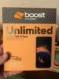 LG Tribute Empire 16GB Prepaid Smartphone, Silver (Boost Mobile) - Brand New