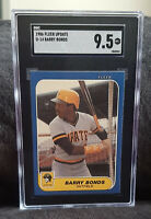 1986 Fleer Update #U-14 Barry Bonds Pirates RC Rookie SGC 9.5 ~ PSA / BGS Xover