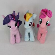 Set of 3 My Little Pony Plush (Dash, Pinkie, Twi) Aurora World Plush 2014 10in