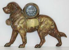 Cast Bronze Lux Novelty St. Bernard Clock
