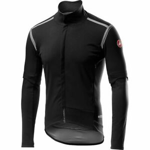 CASTELLI PERFETTO ROS CONVERTIBLE JACKET, GORE-TEX WINDSTOPPER, MEDIUM, BLACK