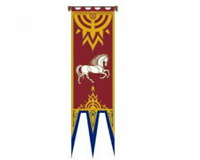 """Rohan IV""  Lord of the Rings Flag/Banner- Large 22""x77"" w Pole-Import (FW-3024)"