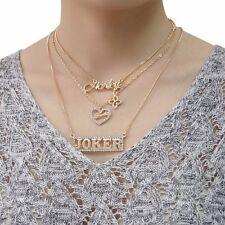 Harley Quinn Love Joker Necklace Romantic Jewelry Costume Accessories Girl Gift