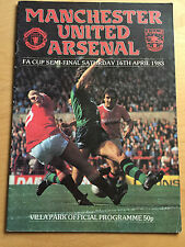1983 FA CUP SEMI FINAL : Manchester United v Arsenal 16th April 1983