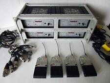 Quad Sennheiser mikroport EM 2004 / SK 50 Wireless Microphone Rack Mount System