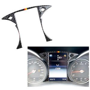 Carbon Fiber Dashboard Frame Trim Strip For Mercedes Benz C Class W205 GLC X253