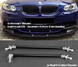 "2 x Black 9.5"" Bumper Lip Diffuser Splitter Spoiler Support Rod Bar for BMW"