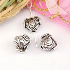 8Pcs Tibetan Silver Heart Spacer Beads 8.5x9.5mm A5172