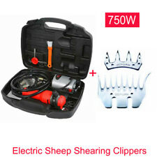750W Electric Sheep Goat Shearing Clippers Animal Grooming Flex Shaft 220V