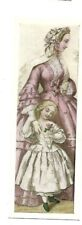 VINTAGE BOOK MARK - VICTORIAN LADY & DAUGHTER - PARNASSUS GALLERY - LONDON