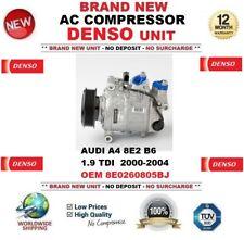 DENSO AC Compressor AUDI A4 8E2 B6 1.9 TDI  2000-2004 OEM 8E0260805BJ OE QUALITY