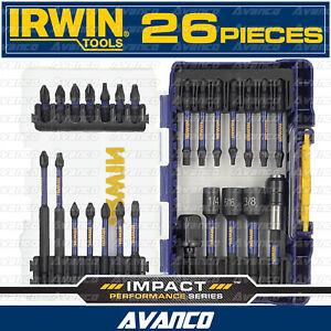IRWIN Impact PRO 26 Piece Bit Set Driver Drill Magnetic Screw Lock Nutsetter NEW