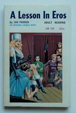 Vintage paperback A LESSON IN EROS 1968 Eric Stanton art UB 154 UNREAD RARE