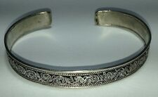 the Himalaya Free Ship in Usa Intricate Filigree Design Metal Cuff Bracelet From
