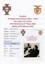 EUSEBIO PORTUGAL INTL WORLD CUP 1966 RARE ORIGINAL AUTOGRAPH MAGAZINE CUTTING
