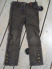 Pantalon slim marron kaki style cavalier SHINY Taille 4 Ans / 102 cm