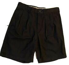 IZOD 0-9 Chino Double Pleat Cotton Khaki Shorts Men's Size 32 Waist NWT