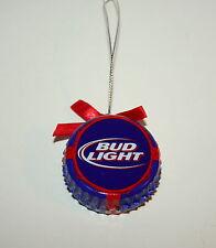 Budweiser Bud Light Bottle Cap Beer Promo Ceramic Ornament New NOS 2008