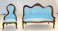 2 PIECE CONCORD VICTORIAN LIVING ROOM DOLL HOUSE FURNITURE MINIATURES