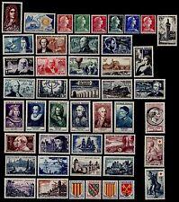 L'ANNÉE 1955 Complète, Neufs * = Cote 145 € / Lot Timbres France n°1008 à 1049