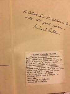 """Michael Collins signed book astronaut Apollo11 """"Carrying The Fire"""""""