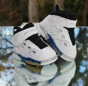 Nike Air Jordan 6-17-23 Toddler TD Size 3C White College Blue Black 428820-101